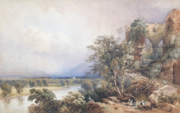 Ruins Above a River, David Hall, Mckewan