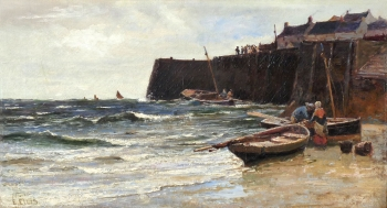 Fishing Boats at Staithes, Edwin Ellis