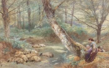 The Young Shepherds, Myles Birket Foster
