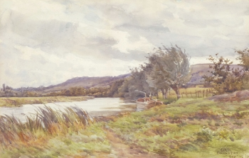 On the Stratford Avon at Eckington, Edmund Morrison Wimperis