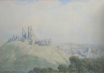 Corfe Castle & Village, Arthur Henry Graham Hoggarth