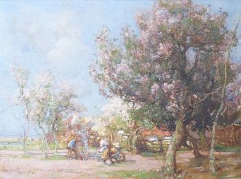 Apple Blossom in the Fens, William Watt Milne