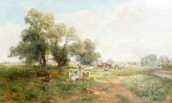 Gathering Field Peas, Ernest Walbourn