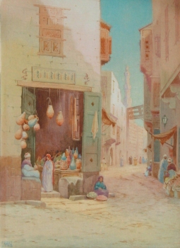 A Potter's Shop, Cairo, R.A.S (British School)