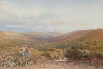 Harvesters in an Extensive Landscape, David Cox junior