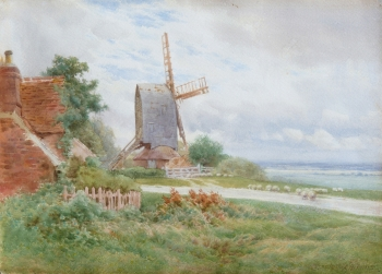 A Post Windmill, Charles James Adams