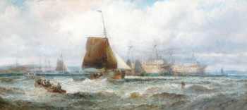 Prison Hulks & other Ships Lying in The Hamoaze, Plymouth Sound, William Anslow Thornley