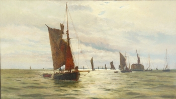 On the Thames, Charles William Wyllie