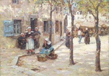 Market Scene, Brittany, Terrick Williams