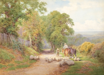 A Wayside Chat , Charles James Adams