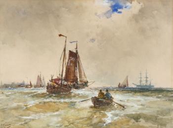 Fishing Boats off the Coast, Frank Henry Mason