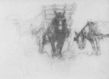 Study of cart Horses  , Lucy Elizabeth Kemp-Welch