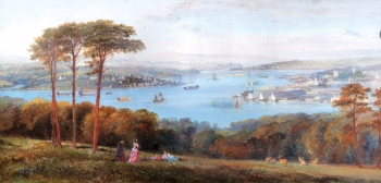 Plymouth from Mount Edgecombe, English School