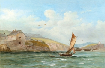 Boats off a West Country Shore  , English School
