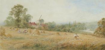 Harvesting near Pangbourne, Henry John Kinnaird