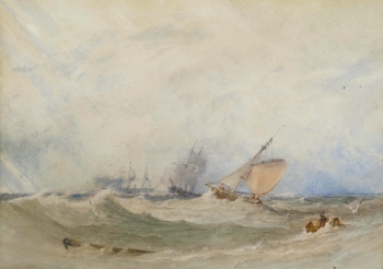 Shipping in Rough Weather, Anthony van Dyke Copley Fielding