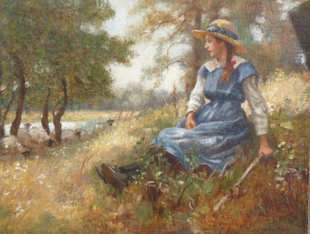 The Young Shepherdess, William Kay Blacklock