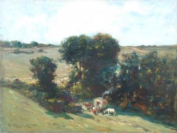 A Gypsy Encampment, Edward Aubrey Hunt