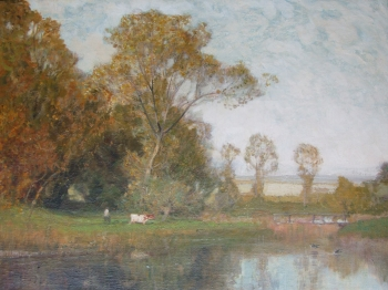Autumn at Stow on the Wold, Sir Alfred Edward East