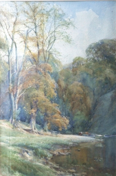 A Bend on the Wharfe, Nr Bolton Abbey, Arthur Reginald  Smith