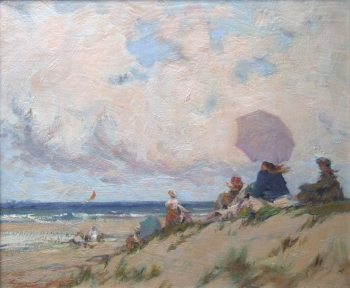 A Blustery Picnic on the Dunes, Ken Moroney
