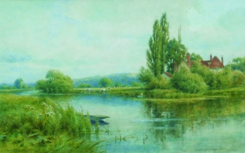 Near Mapledurham, on the Thames, Henry John Kinnaird