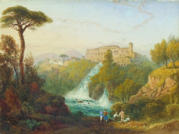 Villa at Tivoli, Italy, William Crouch