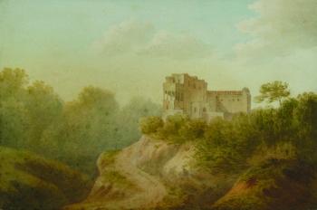 Villa near Cape di Miseno, Anthony van Dyke Copley Fielding