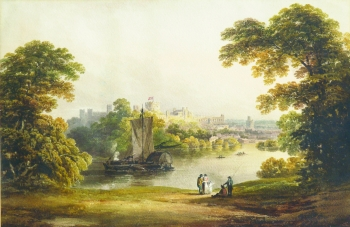 Windsor Castle from Across the Thames, Francis  Nicholson