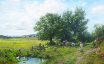 Picnic in the Summer Shade, James Aumonier