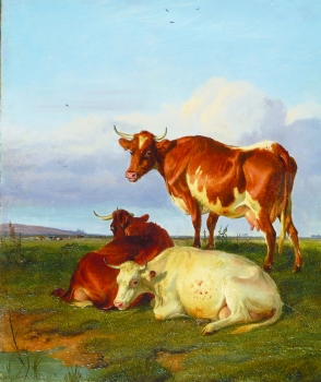 Cattle in a Landscape, Thomas Sidney Cooper