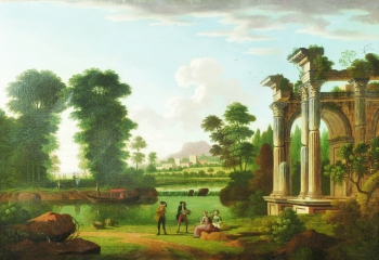 Gentry at Leisure in an Italianate Landscape, Richard Wilson