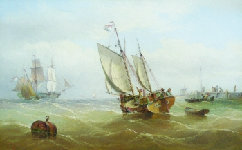 Dutch Trader Setting out from Port, Henry Redmore