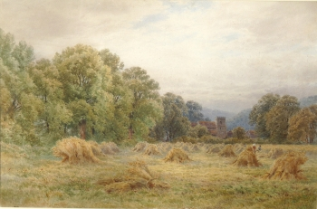 Watercolour Alfred Powell Harvest Time