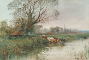 A View in the Fenlands, Henry Charles Fox