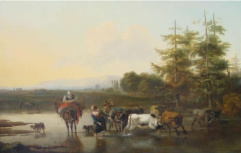 Watering Cattle, Nicolas Berchem