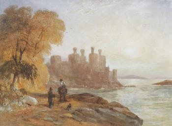 Caernarvon Castle, David Cox senior