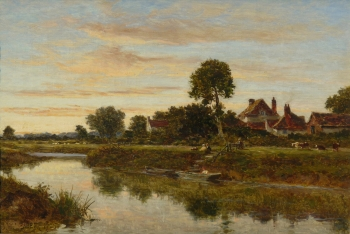 Evening on the Severn, Worcestershire, Benjamin Williams Leader