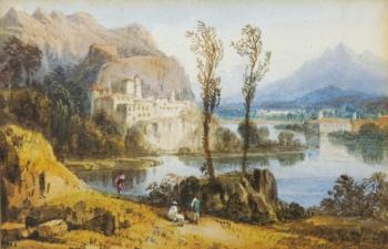 Continental Lake Scene, William Crouch