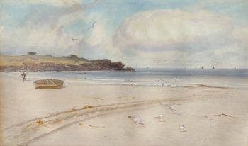 Gulls on a Beach, Charles Sim Mottram