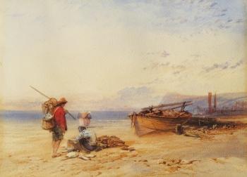Fishermen on a Beach, Charles Bentley