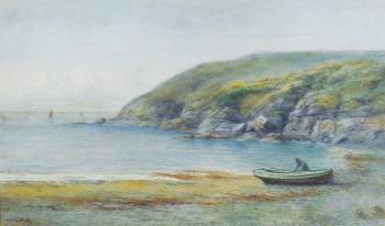 Fisherman Preparing His Boat, Charles Auty