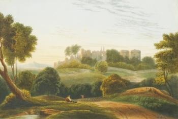 Castle in a Rural Landscape, John Varley