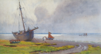 Costal Scene with Moored Boats, Willie Stephenson