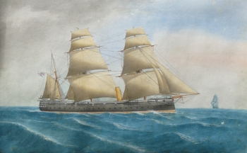 HMS Dido, an Ironclad, English School