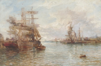 A Busy Port, (Stephen) Frank Wasley