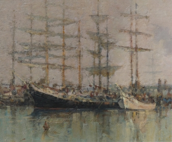 Tall Ships Early Morning, Woolwich, Ken Moroney