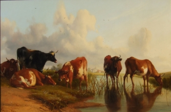 Cattle by a Pool, Thomas Sidney Cooper