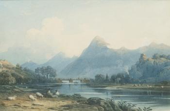 Llanberis Lake, North Wales, John Varley