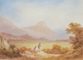 Mountain Lake Scene, Francis  Nicholson